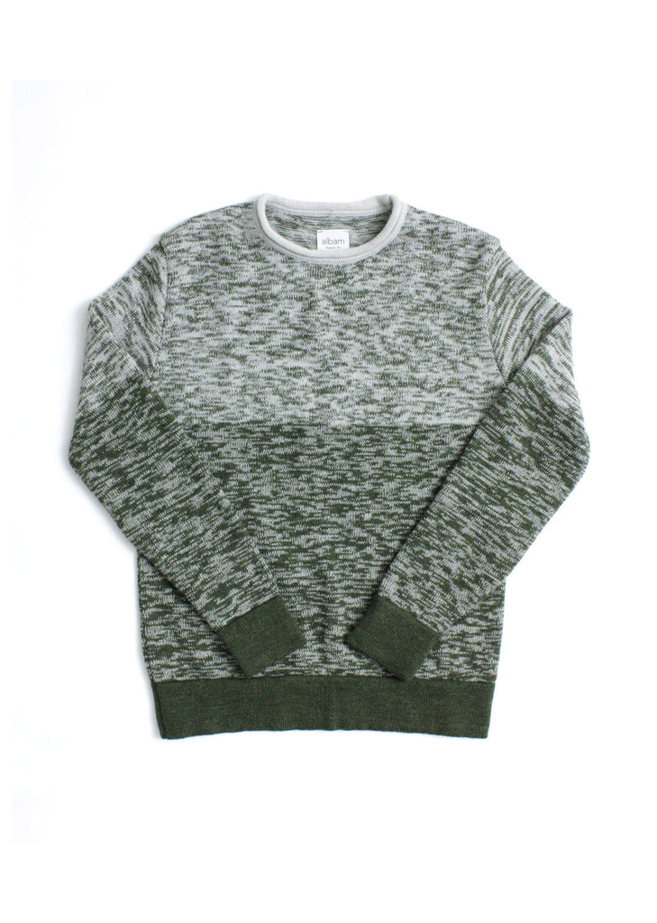 Fade Knit Crew in Forest