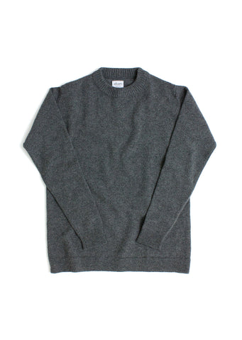 Mixed Gauge Sweater in Mid Grey