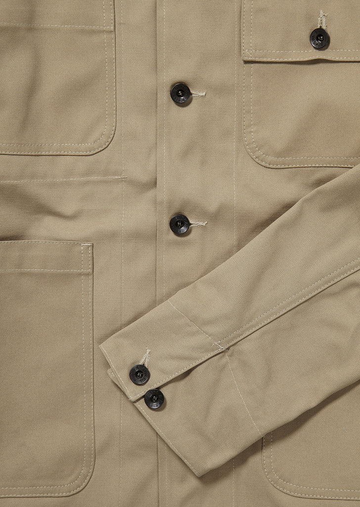 Mechanics Jacket in Stone Canvas
