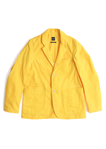 Taped Canvas 2 Btn Club Jacket in Yellow