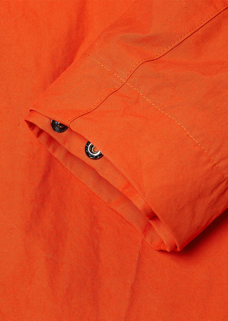 Washed Canvas Aft Jacket in Red Orange/Yellow