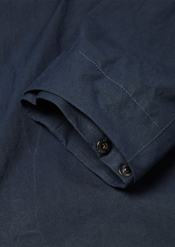 Washed Canvas Aft Jacket in Navy/Yellow