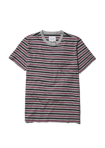 Marl Striped T in Plum