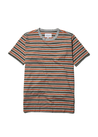Marl Striped T in Orange
