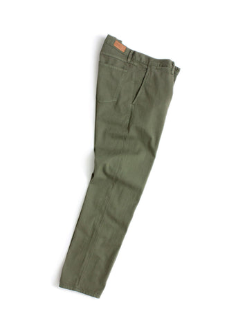 Selvedge Chino in Olive