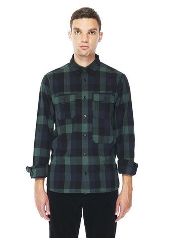 Flannel Backwoods Shirt in Khaki Plaid