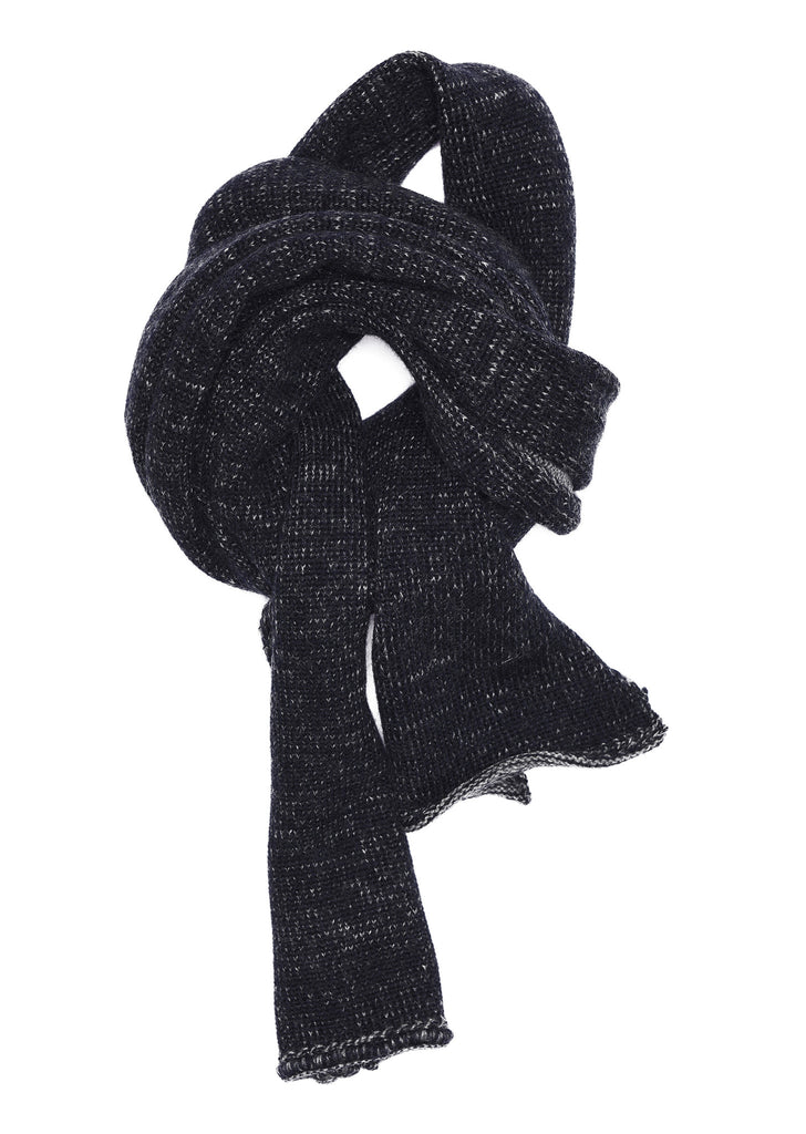 Plaited Scarf in Grey/Forest