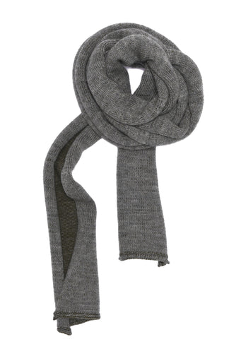 Plaited Scarf in Navy/Grey