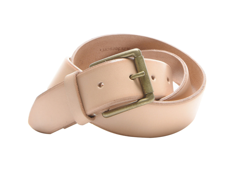 Anderson's Jeans Belt in Nude Leather