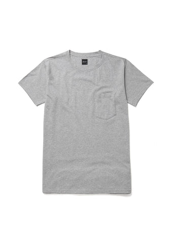 Pocket T-Shirt in Grey Marl