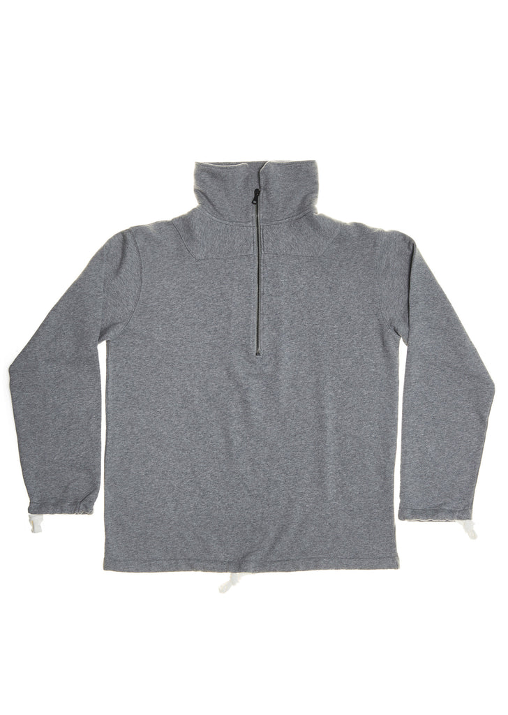 Zip Sweatshirt in Grey Marl