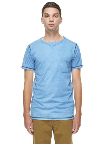 Indigo Tee in Bleach Wash