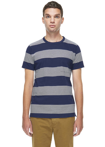 School Stripe T-Shirt in Navy