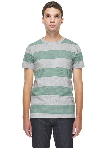 School Stripe T-Shirt in Emerald
