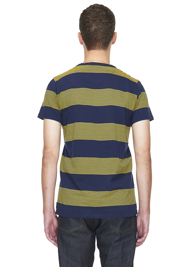 School Stripe T-Shirt in Yellow
