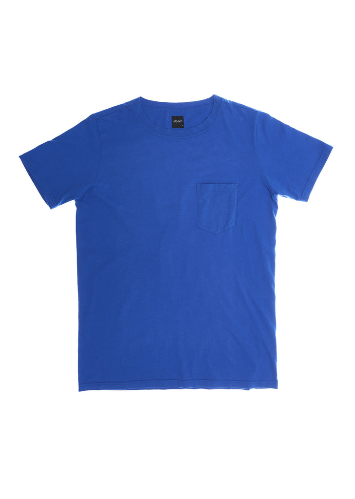 Pocket T-Shirt in Regatta Blue