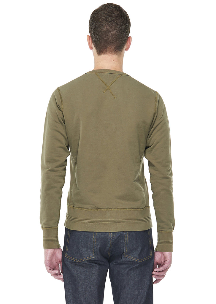 Sweatshirt in Olive