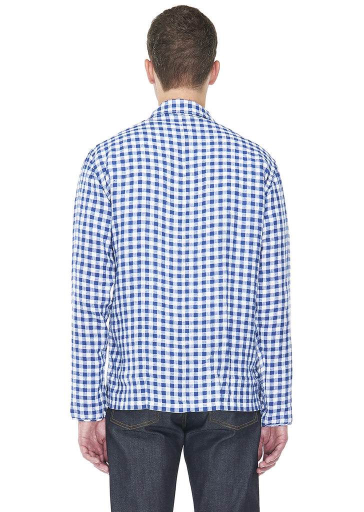 Rail Shirt in Linen Gingham