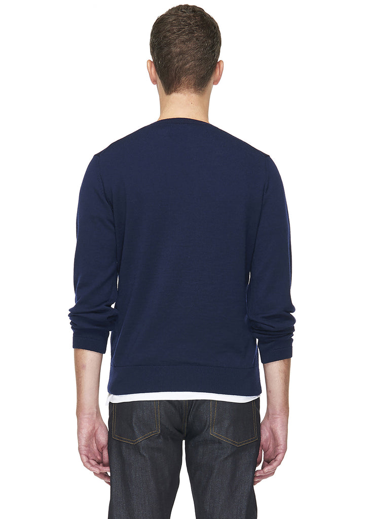 Merino Round Neck in Navy