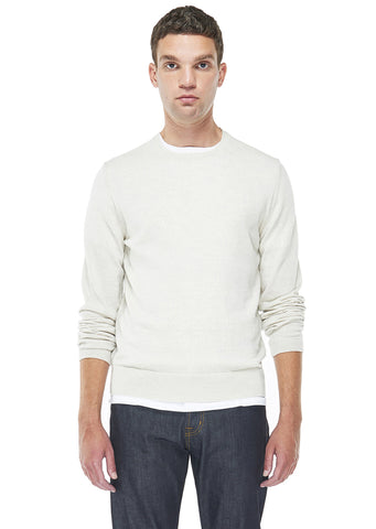 Merino Round Neck in Ecru