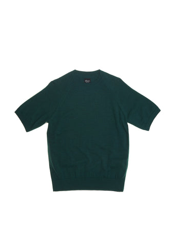 Merino Round Neck Tee in Emerald