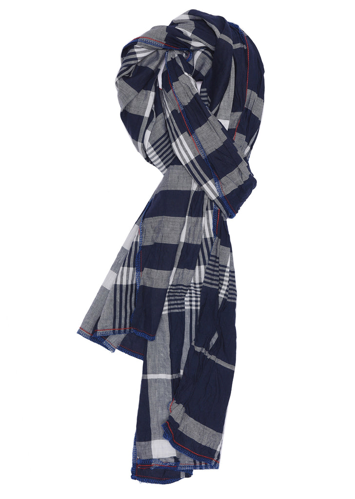 Washed Summer Scarf in Navy