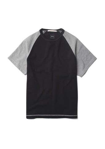 Contrast Athletic T-Shirt in Navy
