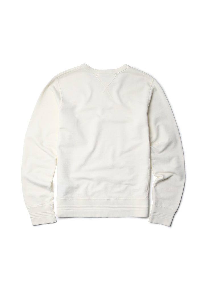 Garment Dye Sweatshirt in Ecru