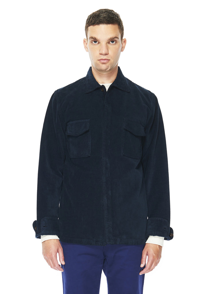 Marine Overshirt in Navy