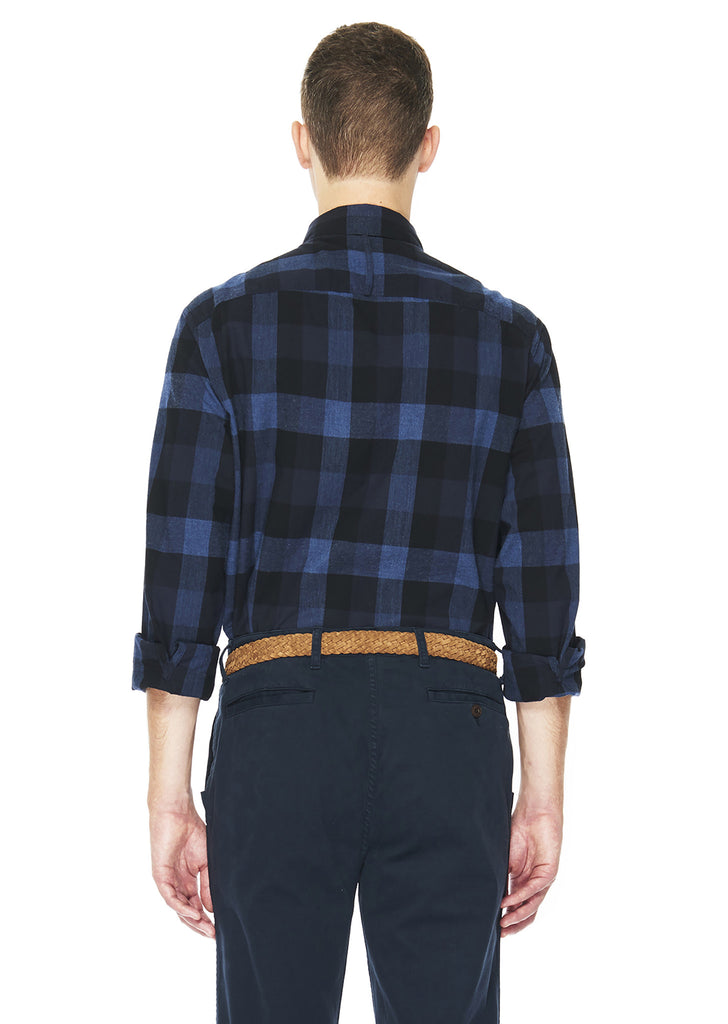 Flannel Backwoods Shirt in Navy Plaid
