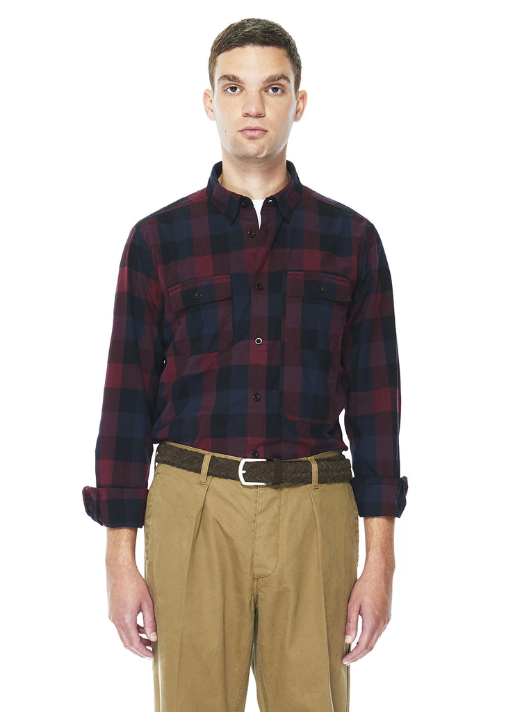 Flannel Backwoods Shirt in Red Plaid