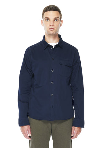 Twill Hemingway Shirt in Navy
