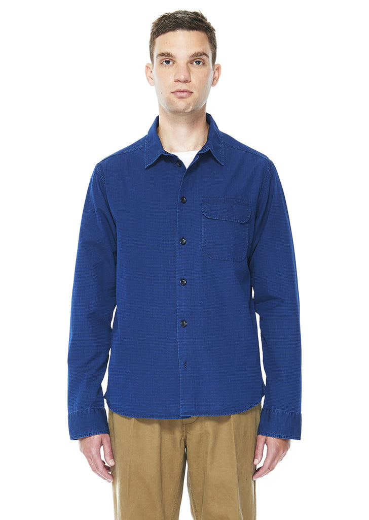 Twill Hemingway Shirt in Indigo Stripe