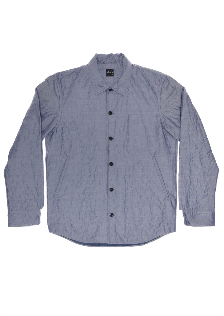 Padded Husky Shirt in Chambray