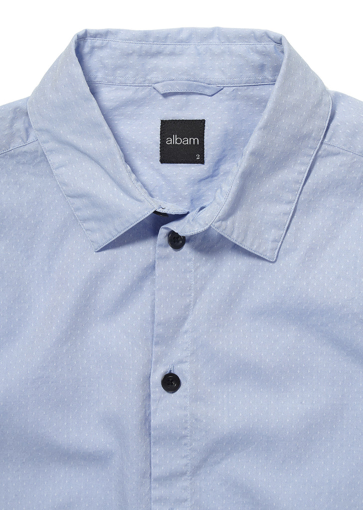 Easy Shirt in Pale Blue Oxford Dobby