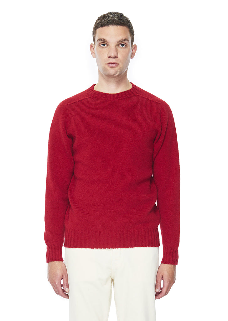 Seamless Shetland Crew in Red