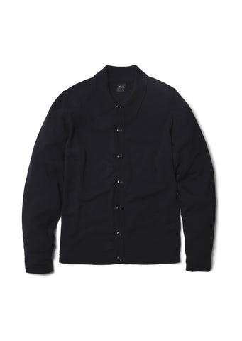 Merino Knitted Shirt in Navy