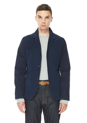 Washed Cotton Blazer in Navy