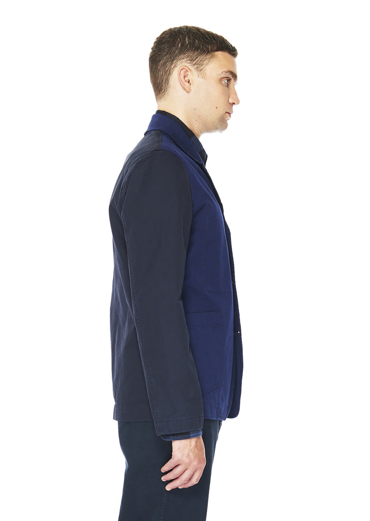 Washed Contrast Blazer in French Blue