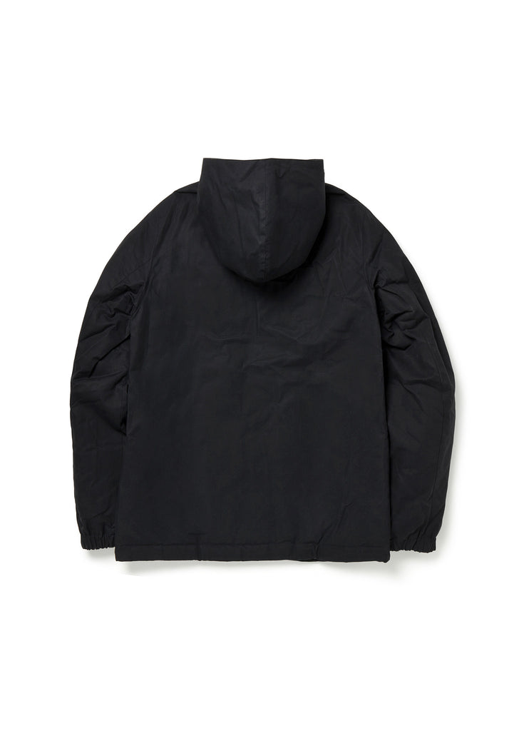 Wadded Road Coat in Black
