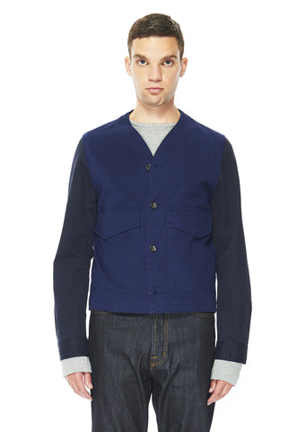 Contrast Freshwater Jacket in French Blue