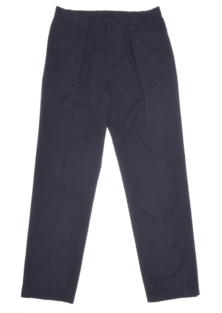 Pleated Trouser in Navy