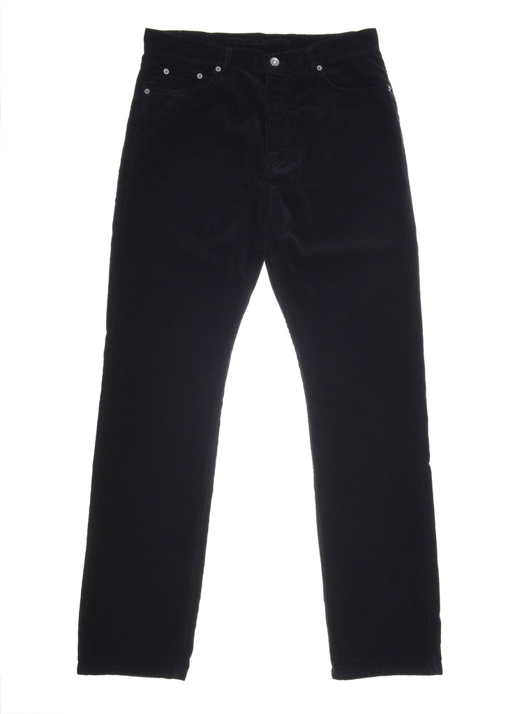 Straight Leg Cord Jean in Washed Black