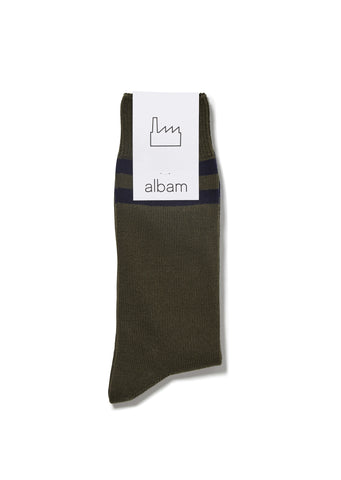 Gym Sock in Olive