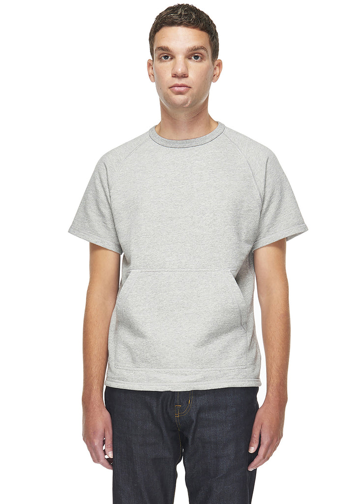 Short Sleeve Sweatshirt in Grey Marl