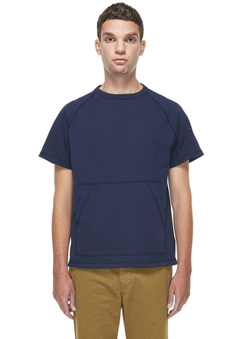 Short Sleeve Sweatshirt in Navy