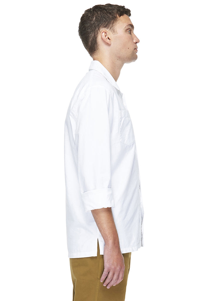 Island Shirt in White Oxford