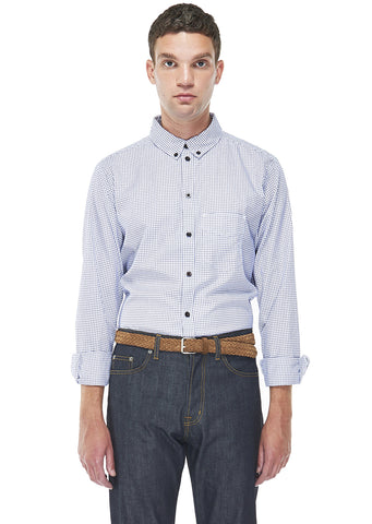Cousteau Shirt in Navy Check