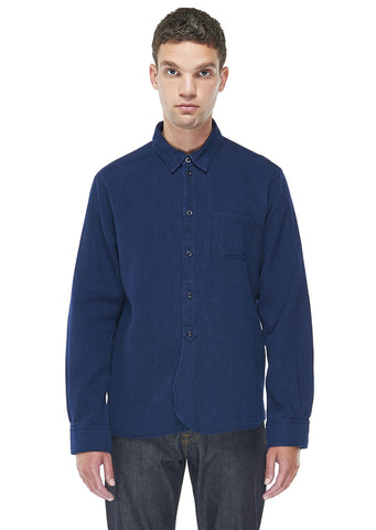 Washed Yard Shirt in Indigo