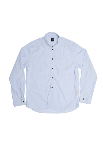 Washed Yard Shirt in Blue Stripe